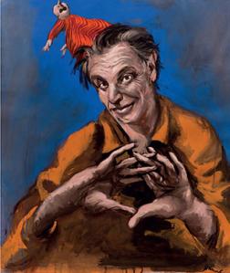 """Gérard Garouste """"Jeu de main"""" 2010 Gouache sur papier 123 X 103 cm Coll Particulière ©courtesy Daniel Templon"""