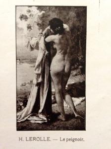 """Henri Lerolle (1848-1929) """"Le peignoir"""" Société Nationale des Beaux-Arts 1913"""