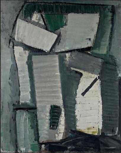 Olivier DEBRÉ (1920 - 1999) Femme grise, 1956 Huile sur toile, signée et datée 56 Adj: 175000€ vte T de Maigret du 22/10/2014.
