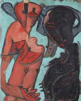 Markus Lüpertz (né en 1941) Vte Christie's 5/11/2013 - N° 138, adj : 22500€ du 24/04 au 19/07/2015 Exposition Musée d'Art Moderne de la ville de Paris