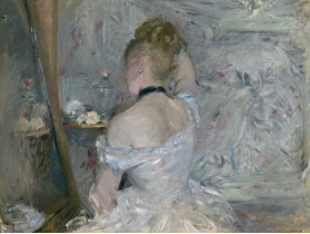 Berthe Morisot Femme à sa toilette 1875-80 Huile sur toile, 60,3 x 80,4 cm Chicago, The Art Institute of Chicago © Chicago, The Art Institute of Chicago