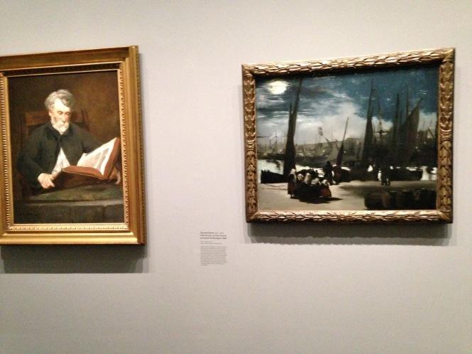 """Edouard Manet """"Le Liseur"""" 1861 Saint Louis, Saint Louis Art Museum """"Clair de Lune"""" 1869. Musée d'Orsay"""