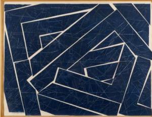 Lot n°123 Georges NÖEL (1924-2010) PALIMPSESTE, 1979 Sable, acrylique et collage sur papier Signé et daté en bas à gauche 102 x 130 cm - 41 x 52 in