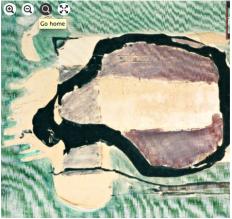 71. Georges Noël. Composition bleue. Technique mixte sur toile signée en bas à gauche et contresignée au dos. Haut. 46 - Larg. 61 cm. Adj 1000 €