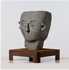 eduardo arroyo (né en 1937) arthur cravan après son combat avec jack johnson, 1996 sculpture de fer, pierre et plomb signée... RESULTAT 12880 € ESTIMATION : 8 000 / 12 000 €