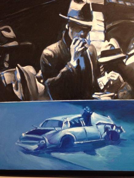 """Jacques Monory """"Noir et bleu N°3"""" 2011 Huile sur toile"""