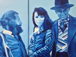 """Jacques Monory """"Arcachon"""" 1974 Huile sur toile (détail)"""