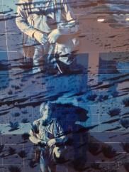 """Jacques Monory """"Antoine N°11"""" 1975 Huile sur toile et plexiglass"""