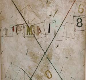 """""""Computer, 13 mai 1968"""" 1968. Technique mixte sur toile. Coll. particulière."""