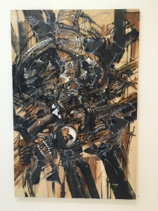 DEM189 Sytry, 2014 Acrylique, aérographe & fusain sur toile 149 x 89 cm