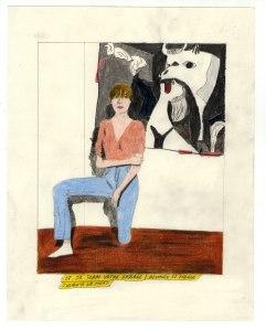 """""""Et je serai votre vassale, dévouée et fidèle, jusqu'à la mort"""", crayons de couleur sur papier, 2015 Galerie Metropolis à Drawing Now"""