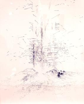 Abdelkader Benchamma Encre sur papier FL Galerie