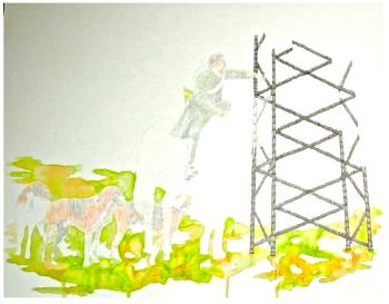 Martin Ferniot sans titre 2, 2015 crayons et feutres sur papier Galerie Isabelle Gounod