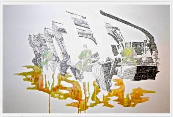Martin Ferniot sans titre 1, 2015 crayons et feutres sur papier Galerie Isabelle Gounod