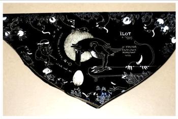 Philippe Favier Hardingia Favieri, 2015 dessin sur verre peint & papier cartonné Bernard Chauveau Editeur