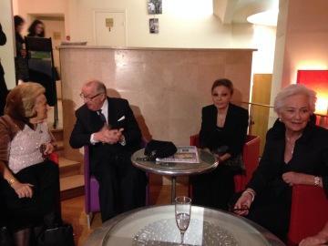 Bernadette Chirac, Le Roi Albert II et la Reine Paola, l'Impéatrice Farah Diba
