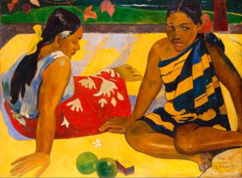 Paul Gauguin   Quelles nouvelles?1892  67 x 91 cm  Galerie Neue Meister, Dresde  Photo: Jürgen Karpinski