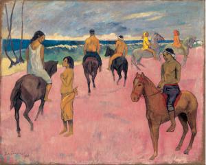 Paul Gauguin Cavaliers sur la plage (II), 1902  73,8 x 92,4 cm