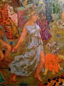 """Pierre Bonnard. Détail. Panneaux décoratifs pour Misia Edwards, 1906-1910 """"Jeux d'eau"""" dit aussi """"Le voyage"""""""