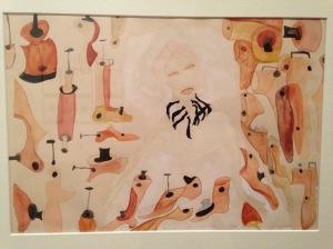 """""""Opera n°34"""" 1940 Aquarelle sur papier Carol Rama - MAM de la ville de Paris du 3/04 au 12/07/2015"""