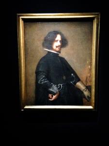 """Diego Velázquez """"Autoportrait"""" 1640-1650 huile sur toile, 45 x 38 cm Museo de Bellas Artes, Valence"""