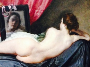 "Diego Velázquez ""Vénus au miroir""(Détail), vers 1647-1651 HST, 122,5 x 177 cm Londres, the National Gallery"