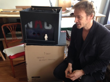 Eric Ruf dans sa loge à la Comédie Française