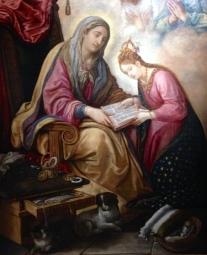 Juan de Roelas (vers 1570 – 1625) L'Éducation de la Vierge 1610-1615 Huile sur toile, 230 × 170 cm Séville, Museo de Bellas Artes