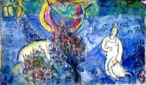 "Marc Chagall Marc Chagall ""Moïse devant le buisson ardent"" 1960/1966"