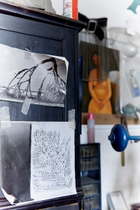 Atelier de Taher Chemirik ©Nathalie Mourot