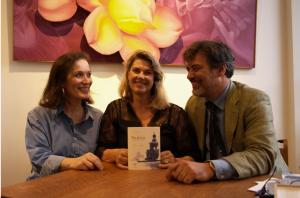 """Elizabeth Royer L'auteur de"""" Venise comme je l'aime"""" France Thierard Alessandro Tusset ©Aurore de La Morinerie"""