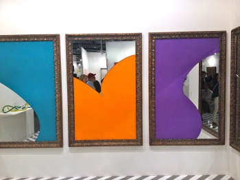 Michelangelo Pistoletto Color and Light, 2014 Galeriacontinua (le 4 ème miroir est sur le mur perpendiculaire!)