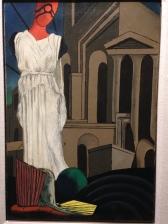 """Giorgio de Chirico (1888-1978) """"L'ennemie du poète"""" 1914 Huile et crayon sur toile"""