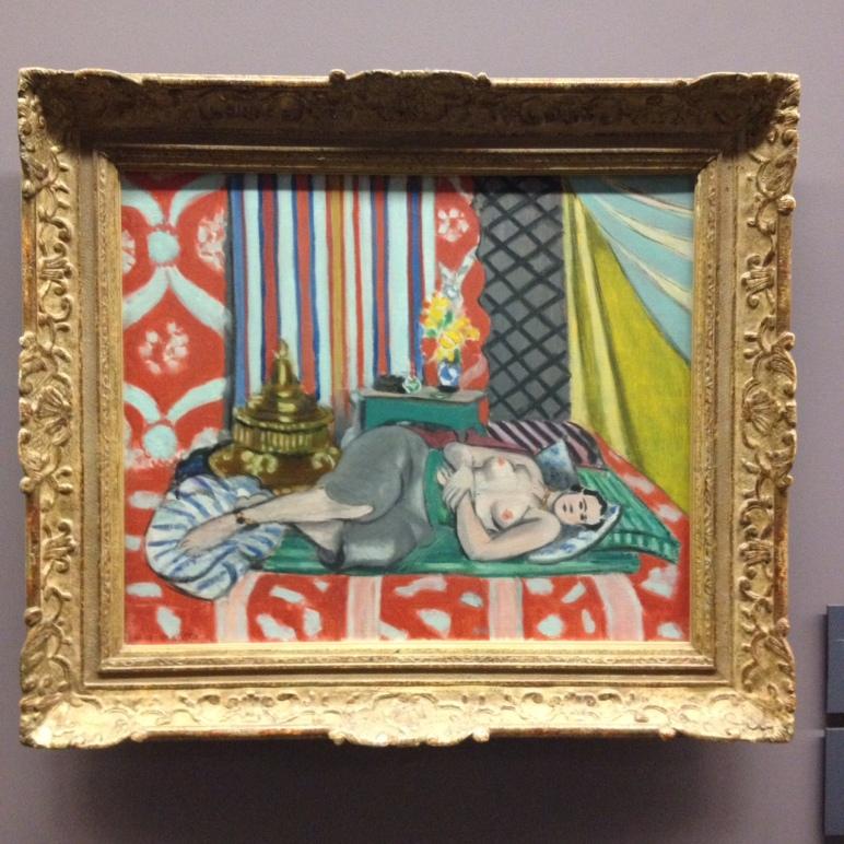 """Henri Matisse (1869-1954) """"Odalisque avec culotte grise"""" huile sur toile, 1927. Musée de l'Orangerie."""