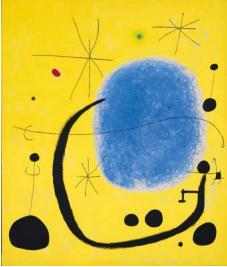 "Joan Miro  ""L'Or de l'azur"" 1967 205 x 173 cm acrylique sur toile Barcelone, Fundacio Joan Miro © Fondation Joan Miro, Barcelone © Adagp, Paris 2015"