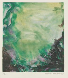 Zao Wou Ki L'Etang (de Jean Lescure)_1972 ©Zao Wou-Ki ProLitteris Zurich_Photo_HD Sotheby's 2014