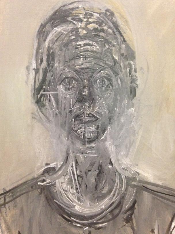 """Alberto Giacometti """"Anette noire"""" 1962 Huile sur toile"""