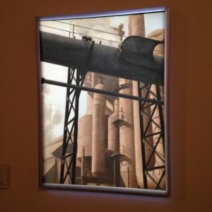 Bernard Boutet de Monvel Usine 1928 huile sur toile ; 65 x 49 cm Paris, Centre Pompidou, Musée national d'art moderne - Centre de création industrielle en dépôt au Musée franco-américain du château de Blérancourt