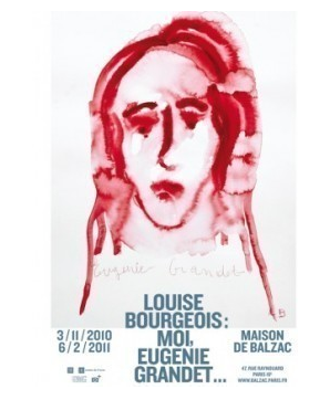 Louise Bourgeois - Moi Eugénie Grandet Affiche de l'exposition à la Maison Balzac. ©The Easton Foundation