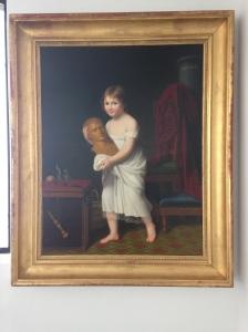"""Jeanne Elisabeth Chaudet Husson """"Marie Laetitia Murat portant un buste de Napoléon 1er"""" 1806 Palais Fesch , Ajaccio, Musée des Beaux-Arts"""