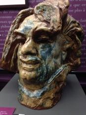 "Auguste Rodin (1840-1917) et Paul Jeanneney (1861-1920) ""Balzac, tête monumentale "" 1889 (?) Grès émaillé"
