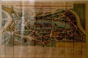 Plan de l'exposition coloniale de 1931 à Paris