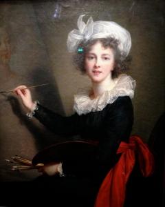 """Elisabeth Vigée Lebrun (1755-1842) """"L'artiste exécutant un portrait de la reine Marie-Antoinette"""" 1790 Florence"""