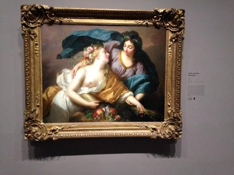 """Elisabeth Vigée Lebrun (1755-1842) """"La paix ramenant l'abondance"""" 1780 Musée du Louvre"""