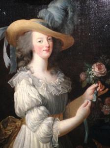 "Elisabeth Vigée Lebrun (1755-1842) ""Marie-Antoinette en chemise ou en gaulle"" 1783"