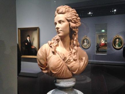 """Augustin Pajou (1730-1809) """"Elisabeth Vigée Lebrun"""" 1785 Terre cuite Musée du Louvre"""