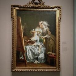 """Adelaïde Labille-Guiard ( 1749-1803) """"L'artiste dans son atelier avec deux de ses élèves"""" 1785 New York The Metropolitan Museum of Art"""