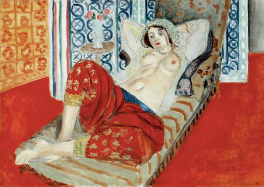 Henri Matisse Odalisque à la culotte rouge 1921 photo@centre pompidou.MNAM-CCI
