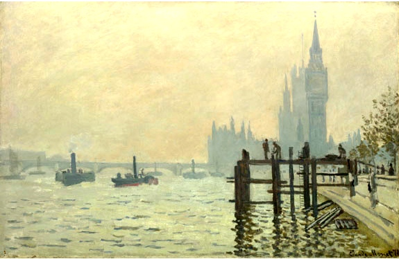 Monet The Thames below Westminster ©London National gallery