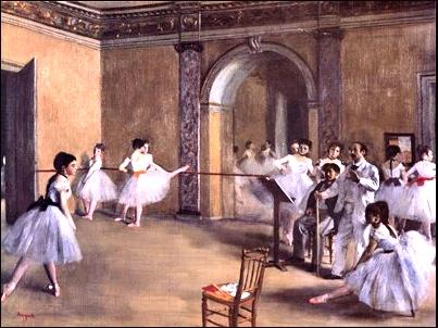Degas La Danse au foyer de l'Opéra rue Le Peletier, 1867 ©Musée d'Orsay